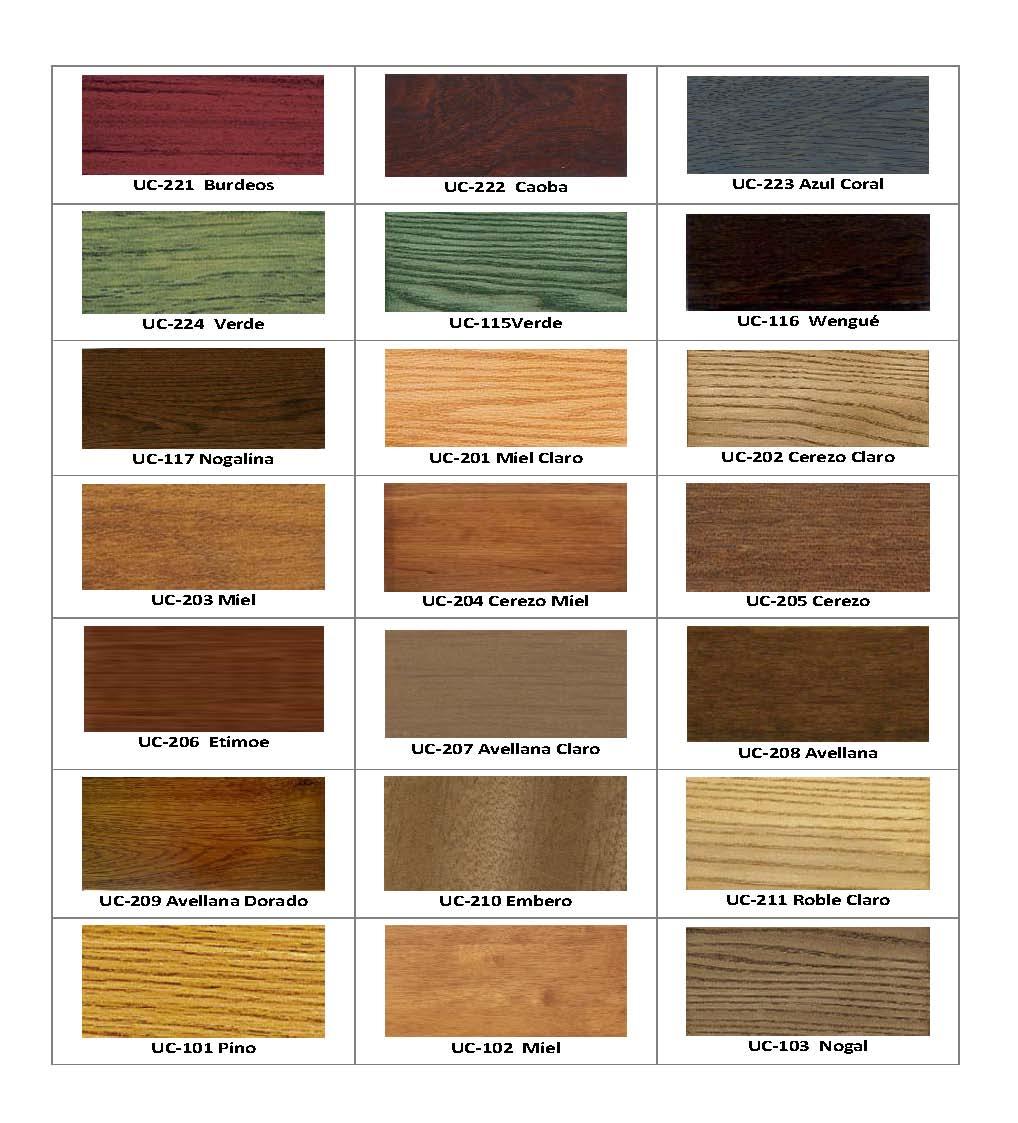 Tintes de madera colores